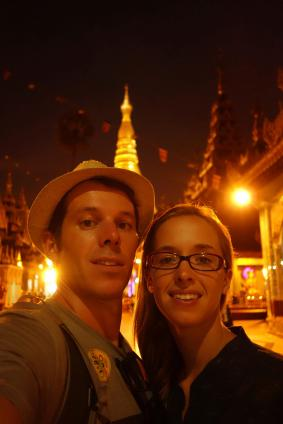 Us with Shwedagon Paya in the background