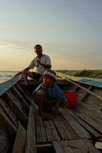 Father and soon, our boat drivers
