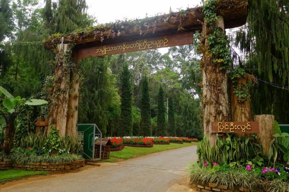 Entrance of the Kandawgi garden