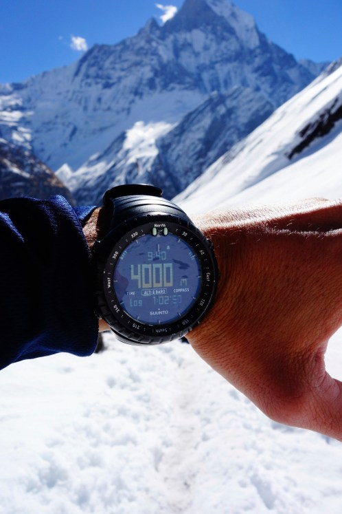 Easy way up, we are already at 4000m