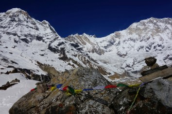 View to the Annapurna summit