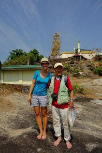 Caro and a japanese tourist