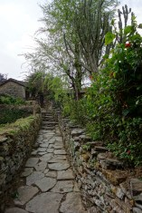 In Landruk and its stone paved streets (no car access in these villages)