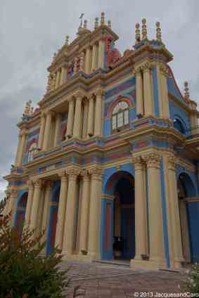 The blue church of salta