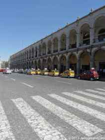 Line of taxi along Town Hall