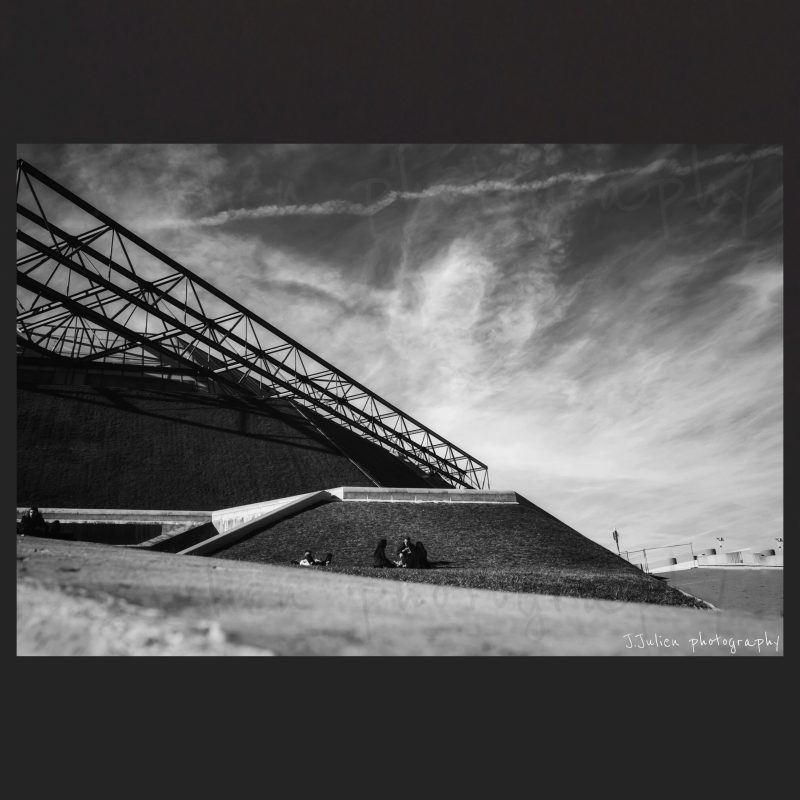 architecture triangulaire moderne photographie