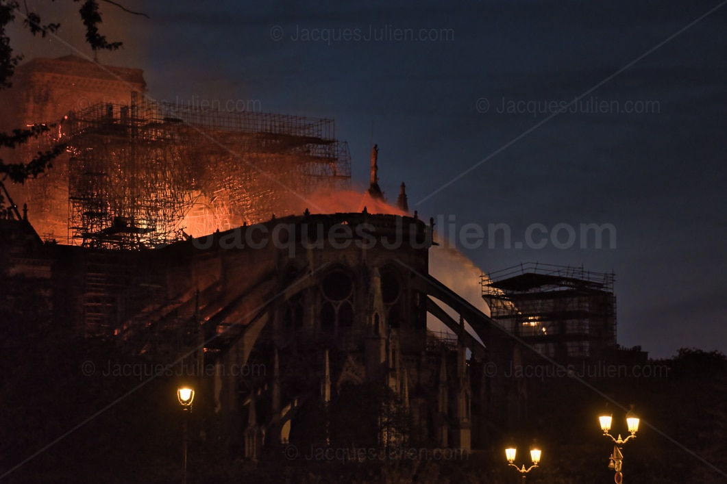 cathedral church burning in France