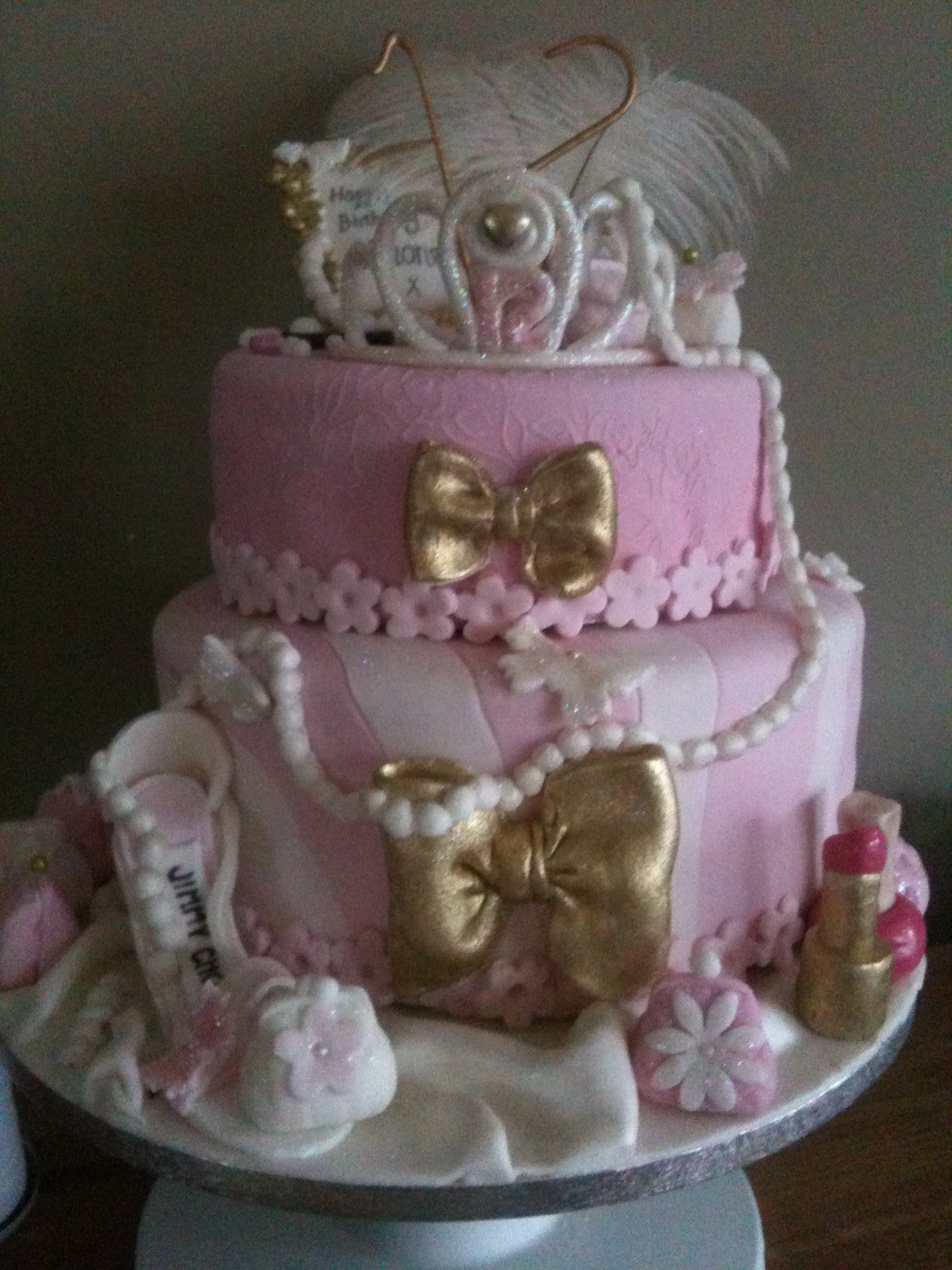 Girly Pink Theatrical Cake For A 12 Year Old