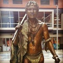 Statue of a Bosotho man at Newtown Junction