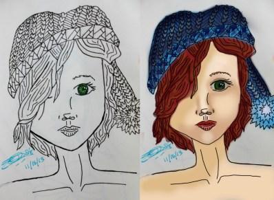 First Digital Drawing Progress AGE 21
