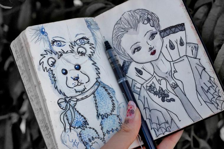 Doodles from Sketchbook, Age 21