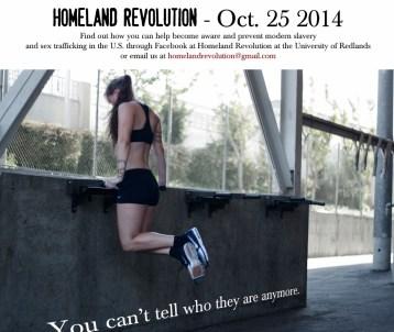 Homeland Revolution at the University of Redlands by JQ