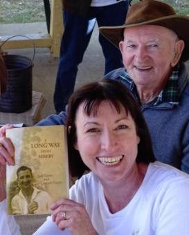 Jack Turner and Jacqui Halpin at the Book Launch of A Long Way from Misery. Photo by Bitty Halpin.