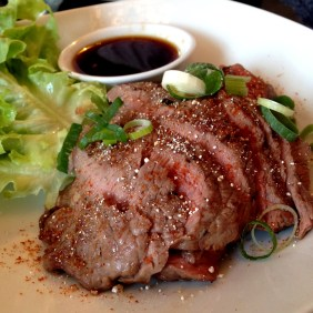 Crying Tiger beef rump steak with nam jum jao dipping sauce