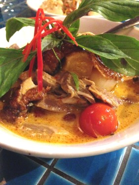 Lycheee Duck red curry from Gin Long Canteen, Adelaide