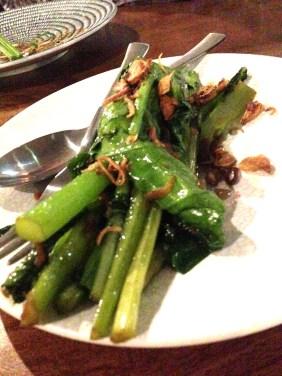 Steamed Asian Kale, Thai caramel, shallots and crispy garlic