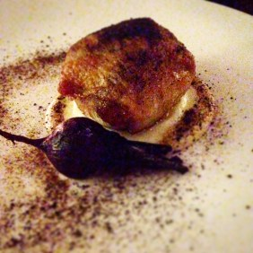 Chicken with black truffle butter, cauliflower puree and baby beet - Co-Op Dining, Perth