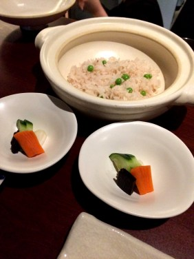 Pickles with rice kelp, fried rice