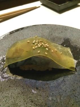 Japanese mackerel, carrot, perilla