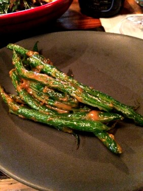 Green beans with native XO