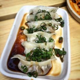 Steamed vegetable and bean curd dumplings