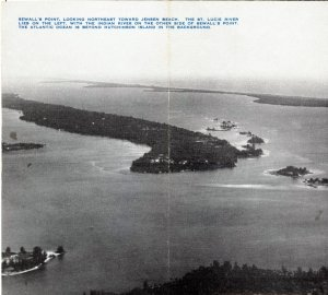 Aerial of Sewall's Point, C.B. Arbogast Brochure. Photo Clyde Coutant 1946-1949.