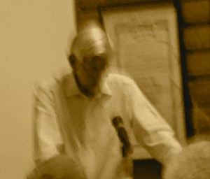 Nathaniel Reed, in a moment of refection, Rivers Coalition meeting 2-27-14.