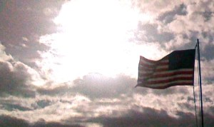 The American Flag Flying. (Photo Jacqui Thurlow-Lippisch, House of Refuge)