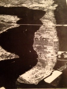 "This aerial photograph is from Sandra Henderson Thurlow's  book, ""Sewall's Point, the History of a  Peninsular  Community on Florida's Treasure Coast."" The photo was taken by Dillon-Reynolds Aerial Photography in 1968, ten years after the ""bridges to the sea"" were built for transportation and development."