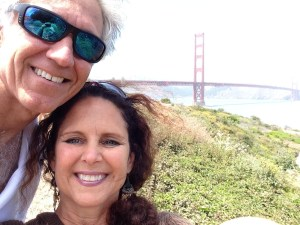 Ed and my bicycle ride over the Golden Gate Bridge, 2014.