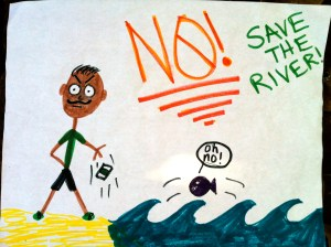No! (to fertilizer) Save The River
