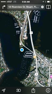 Google Earth view of Roosevelt Bridge today 2014.