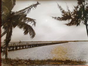 The Jensen Bridge was completed in 1927. (Photographer unknown, photo courtesy of Bob Washam.)