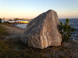 The lone boulder sits unmarked....