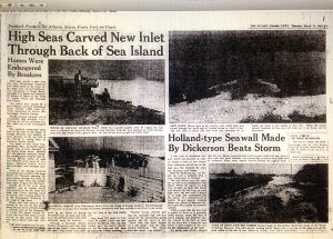 Stuart News article dated March 12, 1962 about the Ash Wednesday Storm and the breakthrough inlet at Peck's Lake along the IRL.
