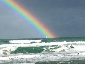 7. Rainbow over the St Lucie River/Indian River Lagoon or Atlantic Ocean? (Jensen Beach, 2-8-15, Jacqui Thurlow-Lippisch)