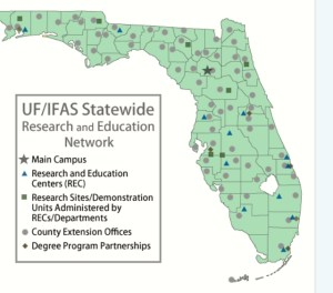 Agriculture's UF UFAS sites to help with research for agriculture improvement. ( Source, UF/IFAS.)