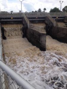 Waters from Lake Okeechobee are the tipping point of destruction  for our SLR/IRL. (St Lucie Lock and Dam, Photo JTL 2013)