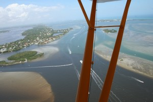 Flight over Crossroads at confluence of St Lucie River/Indian River Lagoon with St Lucie Inlet in distance to the right of Sailfish Point. This area has been documented as the central point of the highest fish bio-diversity in North America by Dr Grant Gilmore. (Photo Ed Lippisch and Jacqui Thurlow-Lippisch 3-15-15.)