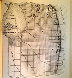 Original Palm Beach Map, 1909.