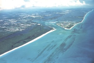 St Lucie Inlet earlier photo, date unknown, ca 1980's. Promotional Water Pointe Realty Group achieves.
