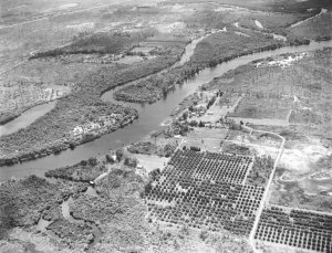 Another aerial, ca 1920s, looking at the connection of C-44 and South Fork. (Thurlow Archives.)