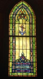 Capt Henry Sewall's memorial window, All Saint's Church, Jensen Beach, Florida.