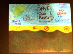 River Kidz toxic algae deceives track down algae blooms and report them. (River Kidz art)