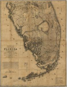 !956 War Map of Florida's Everglades, Courtesy of Sandra Henderson Thurlow.