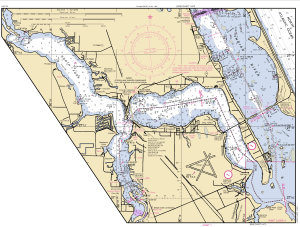 Contemporary St John's waterway navigation map, public files, shows the depth of the St Lucie River at the Roosevelt Bridge at 11 feet.