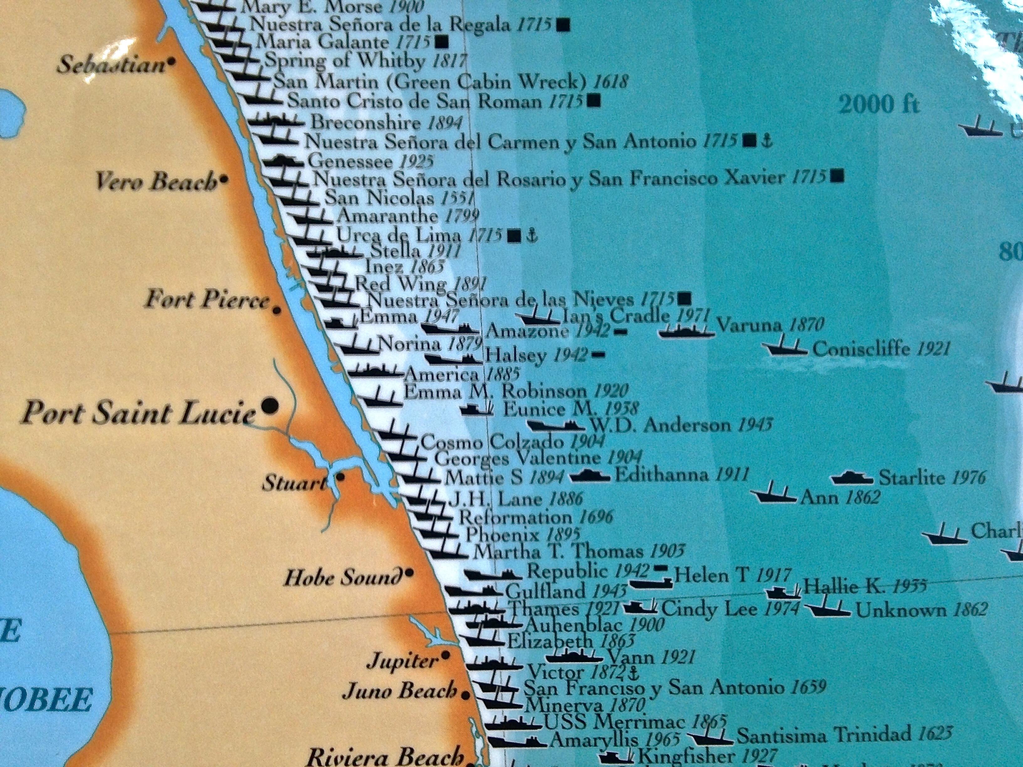 treasure coast ships map | Jacqui Thurlow-Lippisch