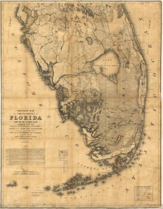 3. 1856 US Seminole war map. Val Martin.