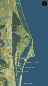 Brevard Museum location in Brevard County. Google maps.