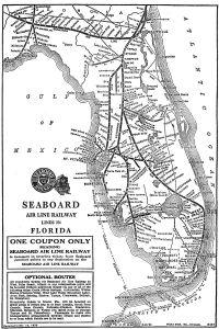 Sea Board Air Lines map 1920s. (Public)